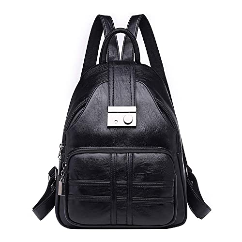 Leather Ladies Backpack Retro Dual-use Backpack Simple Temperament Bag