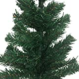 2 Ft Tall Aritificial Pine Green Christmas Tree with Plastic Tree Stand