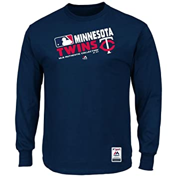 Majestic Minnesota Twins AC Navy Team Choice Long Sleeve T Shirt (S=36)