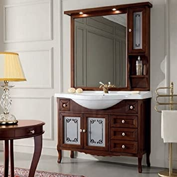 Badezimmermöbel Klassisch amazon de komplett 105 badezimmermöbel klassisch nussbaum elegance