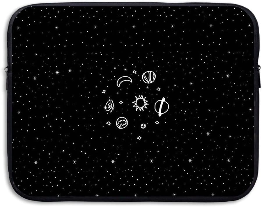 D-MUSE Fashion Cute Planet Printed Computer Storage Bag Portable Waterproof Neoprene Laptop Sleeve Bag Zipper Pocket Cover 15 Inch for MacBook Pro, MacBook Air, Notebook