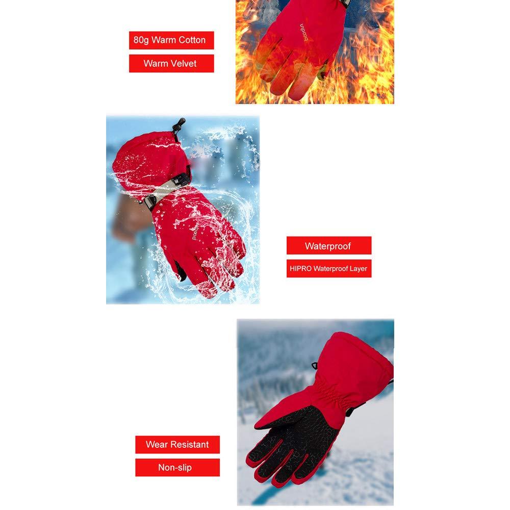 WYYUE Montañismo Snowboard Esquí Guantes Snow Skiing Mittens, Black, L: Amazon.es: Ropa y accesorios