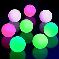 8 Pieces Fluorescence Glowing Sticky Balls That Gets Stuck on The Roof Luminous Stress Ball for Decompression Relax Toy Teens and Adults