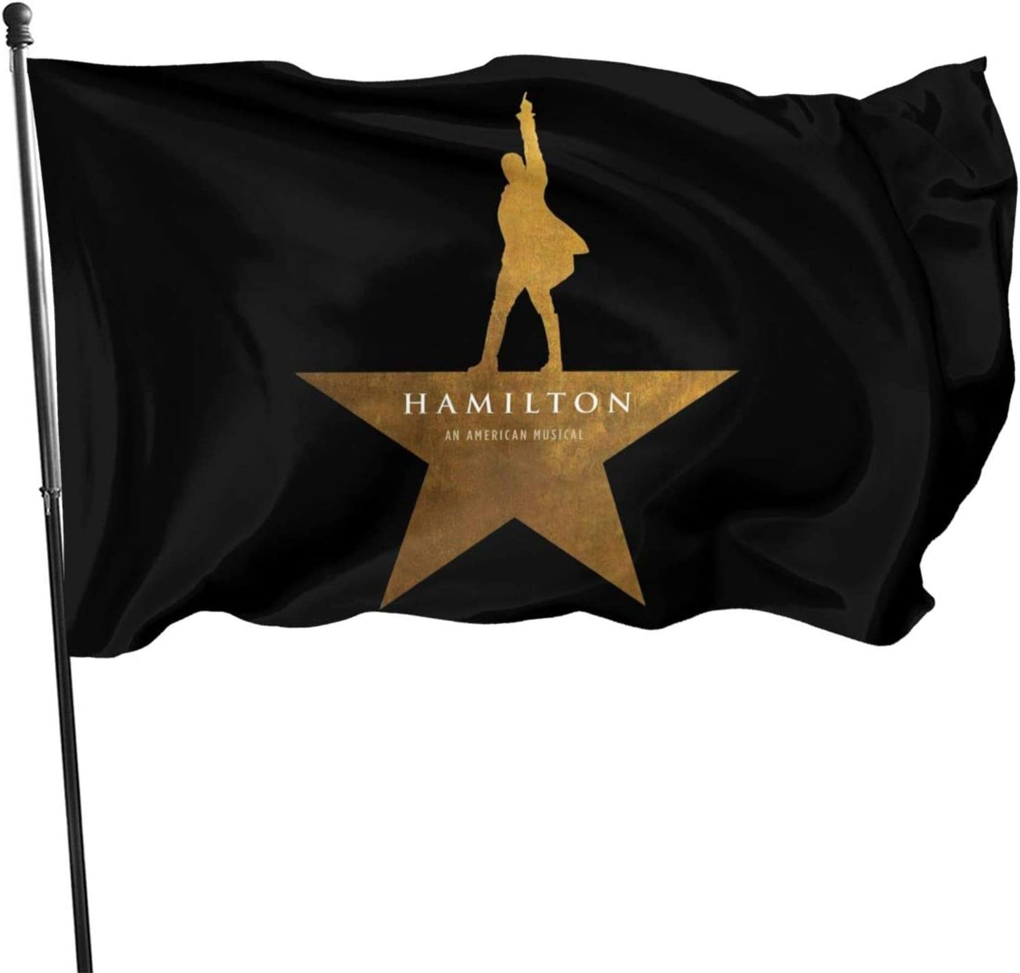Hamilton The Musical Fashion Garden Flag Festival Welcome Banner Party Decorative Flags Black One Size