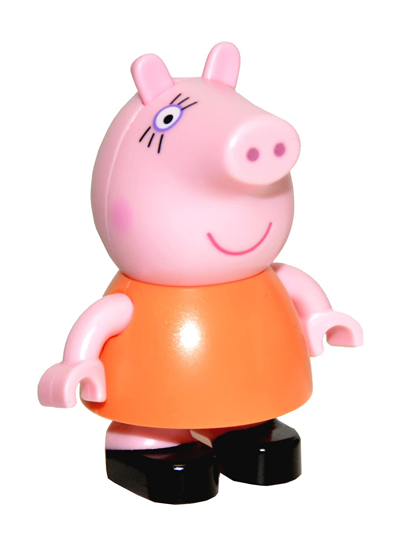 Mummy Pig Jazwares Peppa Pig Build /& Play Small Figure Bag