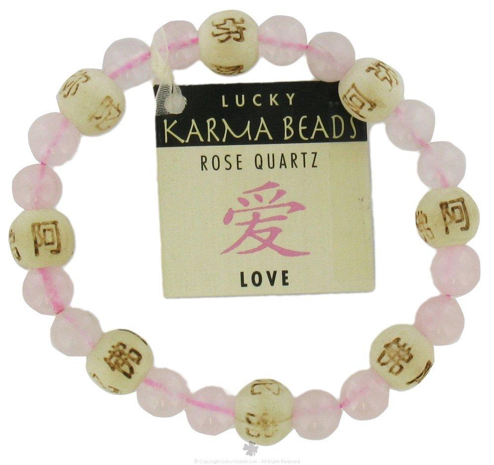 Zorbitz Lucky Karma Bracelet, Rose Quartz for Love and Friendship, Women's Genuine Gemstone Stretch Bracelet
