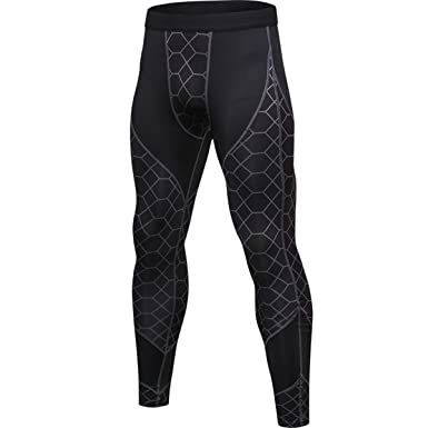 5b0ea434ce Muscle Killer Men's Compression Pants Cool Dry Sports Tight Leggings (Tag  Size M=US