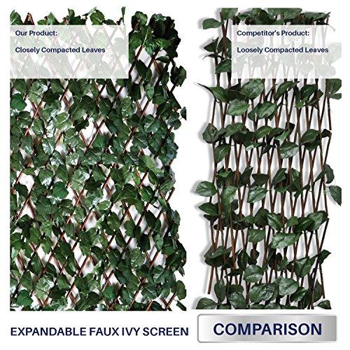 Windscreen4less Artificial Leaf Faux Ivy Expandable