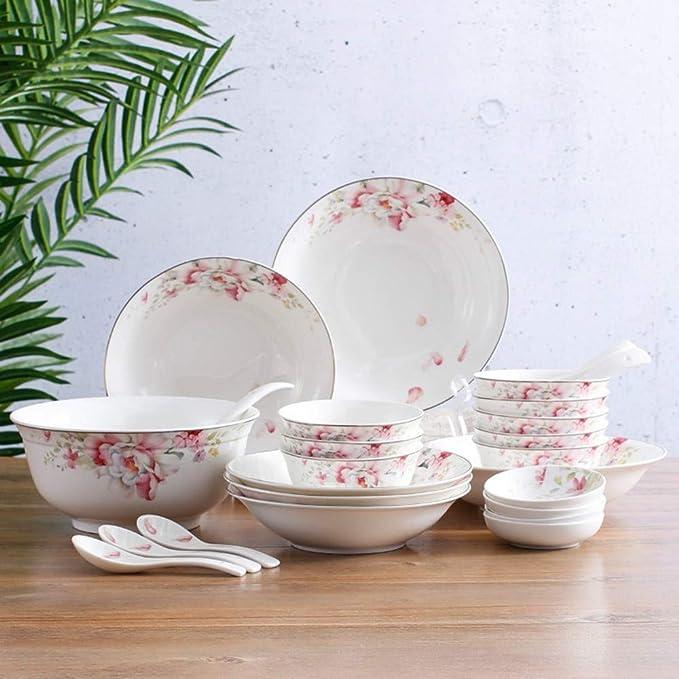 Juego de cubiertos Conjunto de platos de flores de fragancia 28 ...