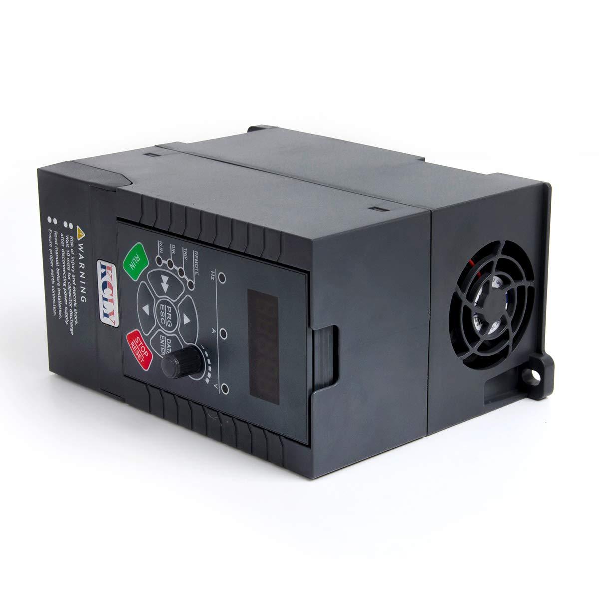 Amazon.com: 1.5KW 2hp 7A 220VAC Single Phase Variable Sd Drive ... on