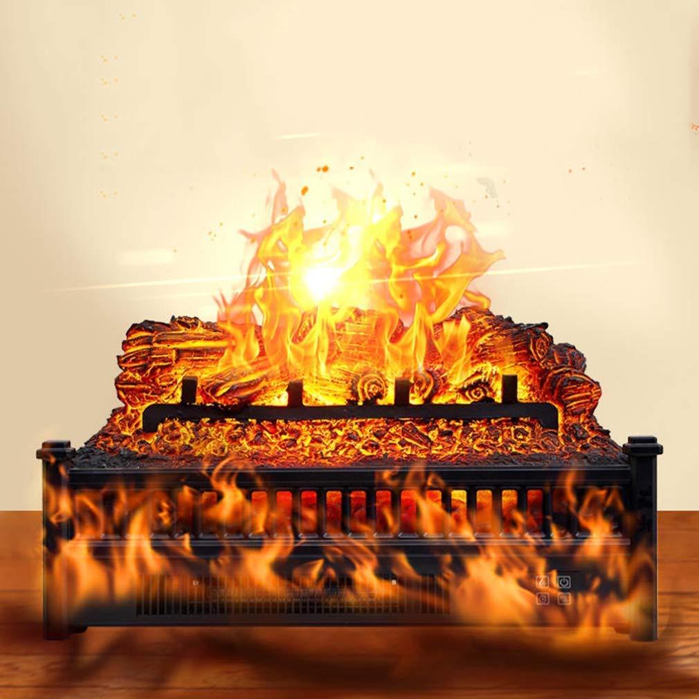Chimenea el/éctrica Registros Calentador Estufa con Realista lecho de brasas de control remoto Protecci/ón del sobrecalentamiento 1800W dsnmm
