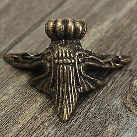 fomccu 4pcs patas de latón envejecido joyas caja de madera esquina protector muebles decorativos, regalos: Amazon.es: Hogar