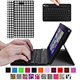 Fintie Blade X1 Dell Venue 8 Pro (Windows 8.1) Keyboard Case – Ultra Slim Shell Stand Cover with Magnetically Detachable Wireless Bluetooth Keyboard (Only Fit DELL Venue 8 Pro Windows 8.1 tablet) – Houndstooth Black