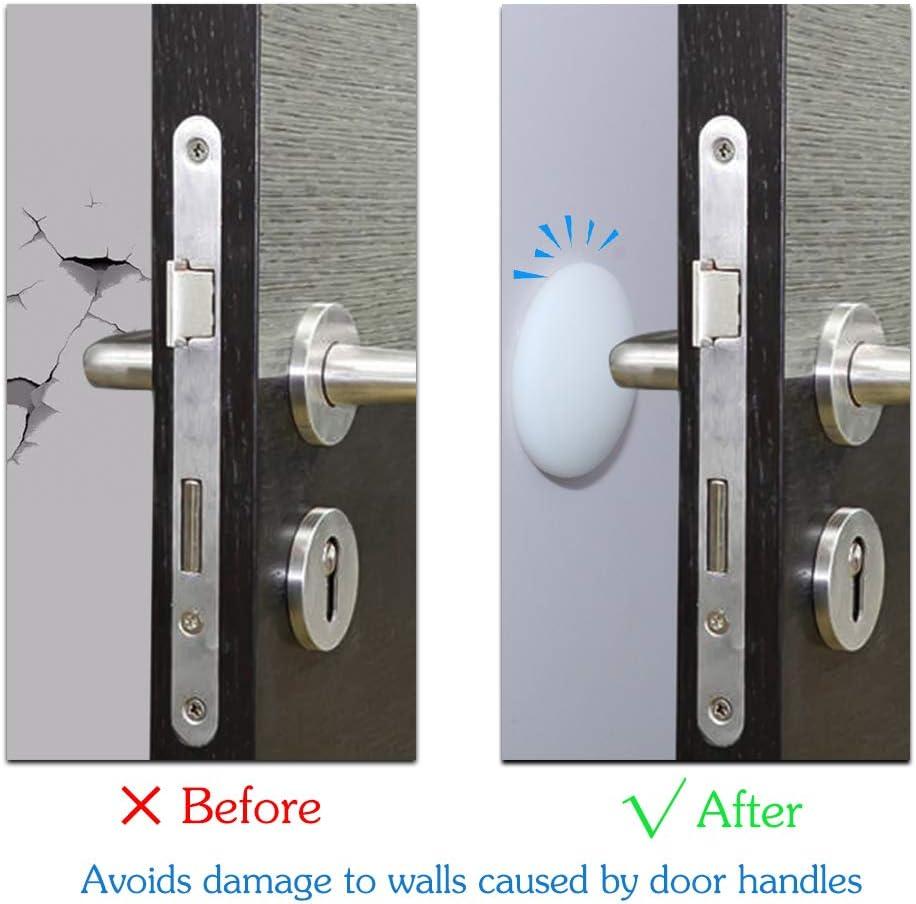 Protector de pared, 20 piezas para manilla de puerta, adhesivo Sefl para casa, dormitorio, cocina y oficina (blanco ...