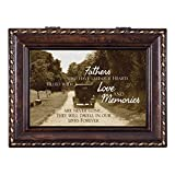 Fathers Never Gone In Memory Darkwood Finish Jewelry Music Box - Plays Tune Pachelbel's Canon in D