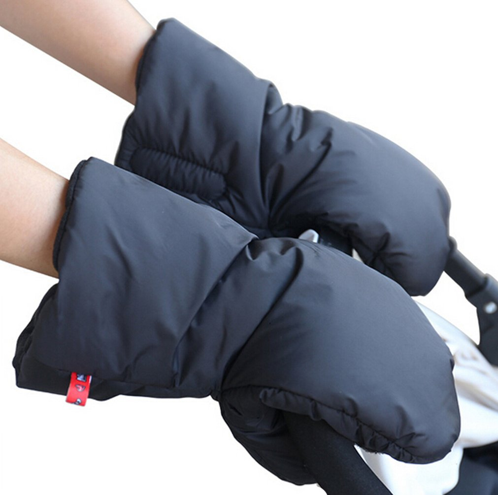 ZEEUPAI - Manoplas guantes de Forro polar impermeable a prueba de viento para cochecito carrito silla