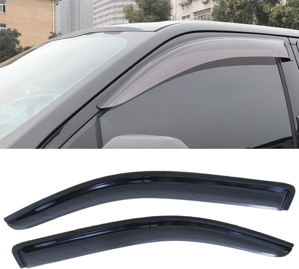 Smoke Rain Guard Vent Shade Deflector Window Visors For 04-14 F150 Extended Cab