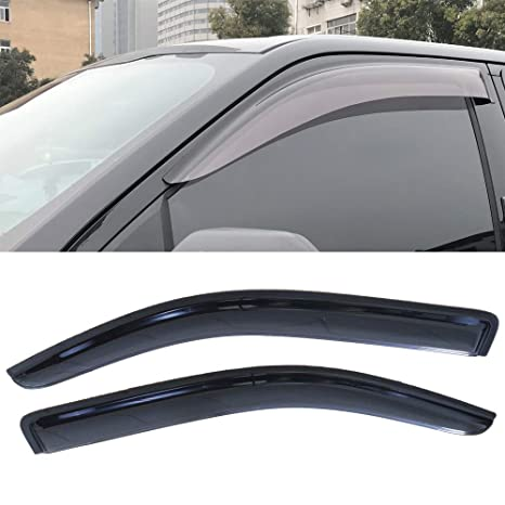 4pcs Smoke For 04-14 F150 Super//Extended Cab Tint Side Vent Shade Window Visors