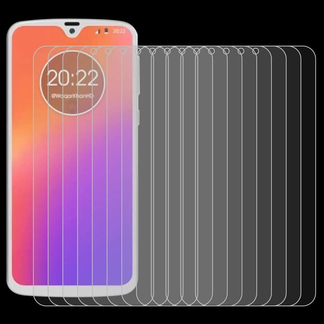 ZYS Screen Protector 100 PCS 0.26mm 9H 2.5D Explosion-Proof Tempered Glass Film for Motorola Moto G7+