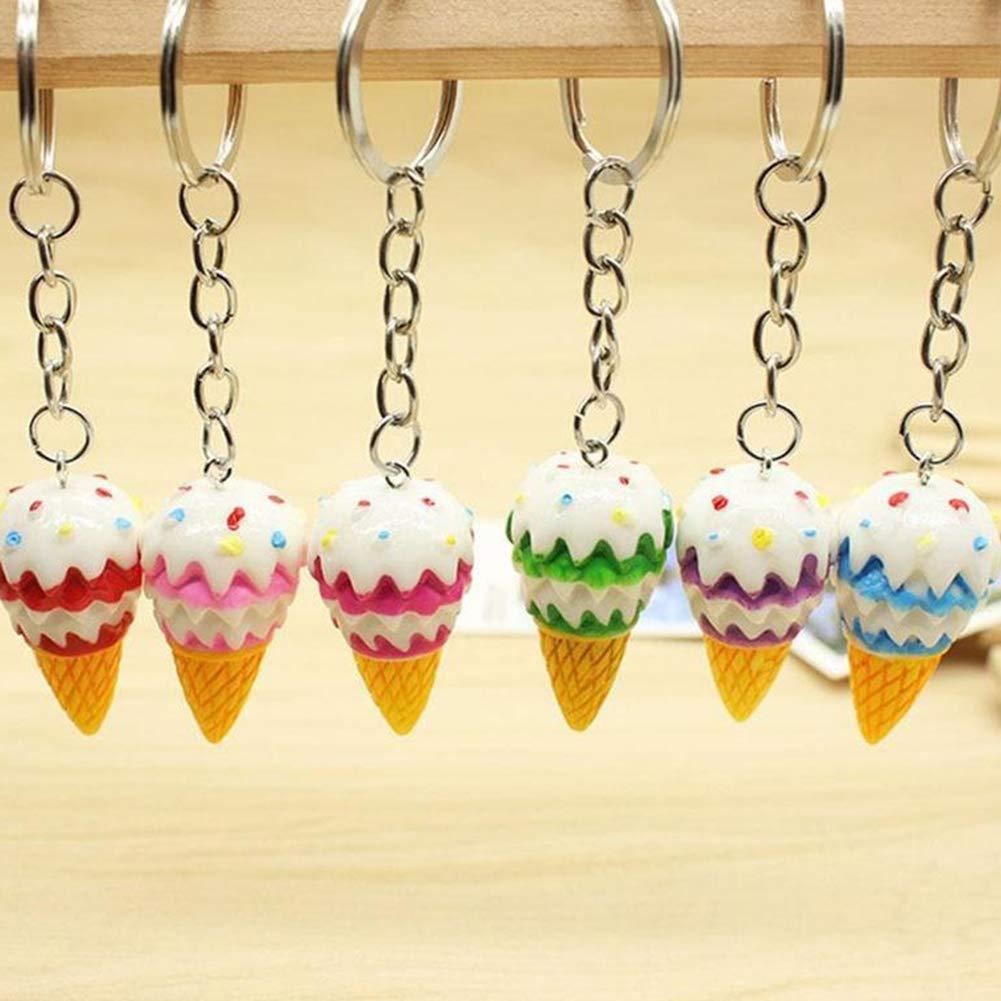 Bangle009 Clearance Sale Lovely Resin Ice Cream Pendant Keychain Key Organizer Bag Purse Hanging Decor