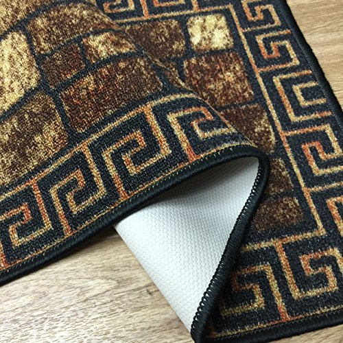 greek key meander design bricks doormat runner non slip non skid kitchen area rug rubber back 4. Black Bedroom Furniture Sets. Home Design Ideas