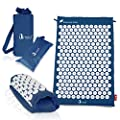 Artoid Mode Acupressure Mat Set   Regular Mat for Back Massage, Travel Mat for Neck Relax and Travel Use   Ideal for Relieves Stress and Pain Relief   Come with 2 Bonus Bags for Storage and Carry