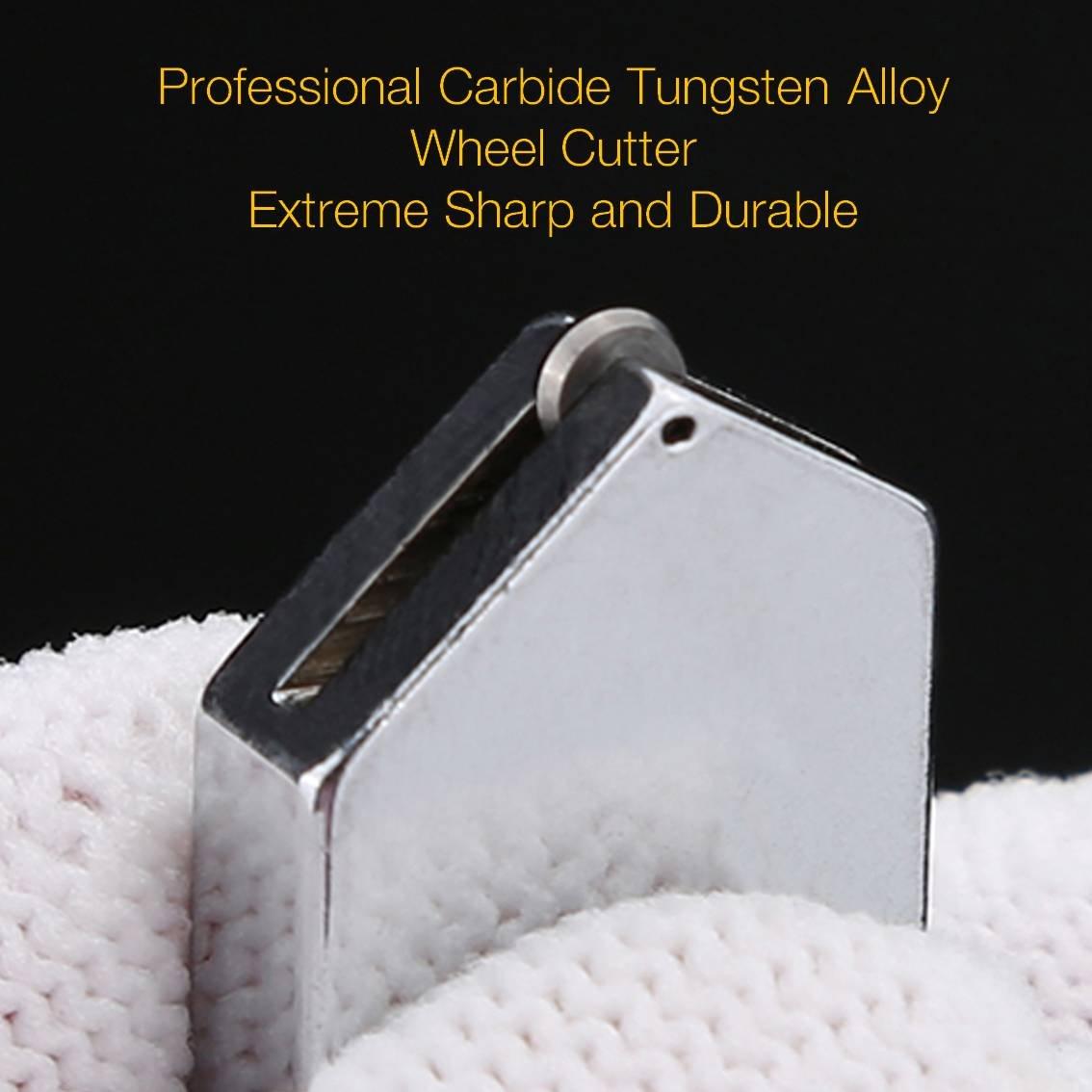 Amazon.com: Herramienta profesional de cortador de vidrio con mango de aleación de tungsteno y carburo con rango de 2-19mm Autocebado para botella de vidrio ...