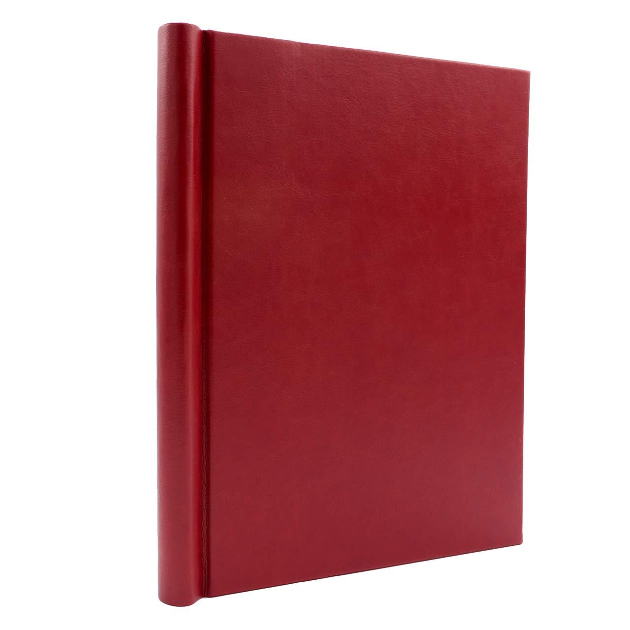 Bindertek 1-Inch Premium Clampback Thesis Binder, Soft Leather Effect, Red (TBXS-L-RD) by Bindertek