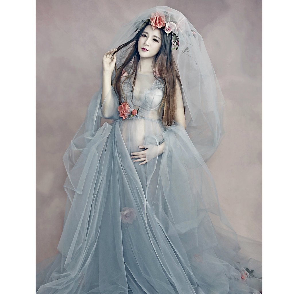 MonkeyJack Womens Lace Gown Sheer Maternity Dresses Photography ...