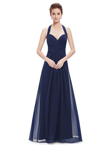 ab78ffdc2 Ever-Pretty -Vestido Mujer Azul Marino L XL  Amazon.es  Ropa y accesorios