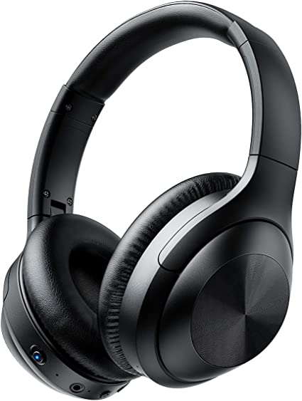 Bluetooth Headphones with Microphone Deep Bass Wireless Headphones Over Ear 30 Hours Playtime for TV Travel Work Cellphone