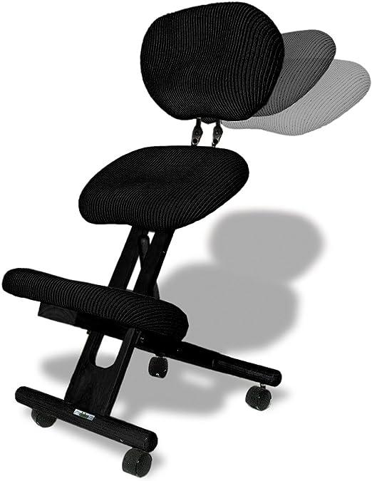 cinius Silla ergonómica Profesional Color Negro con Respaldo: Amazon.es: Juguetes y juegos