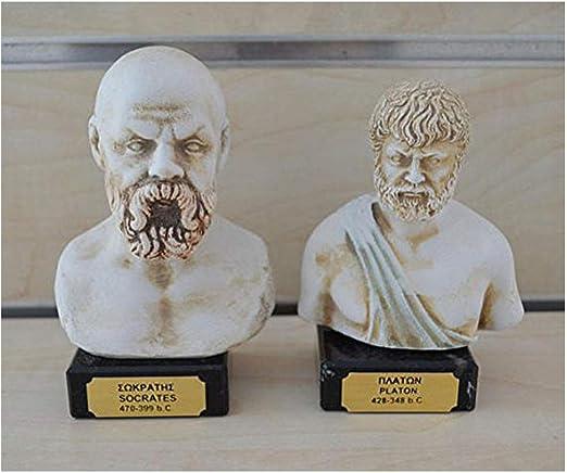 Estia Creations Socrates Plato Aristotle sculpture set ancient Greek philosophers
