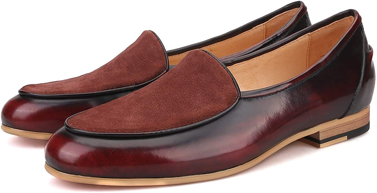 Merlutti Handmade Brown Leather Moccasin Shoes Lucah Belgian Loafers