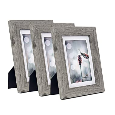 Scholartree Wooden 5x7 Picture Frames 3P 8x10 2P 11x14 2P (Style 2, 5x7 inches 3P)