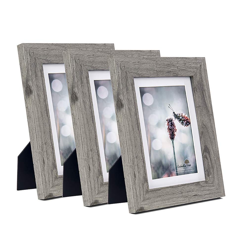 Scholartree Wooden Photo Picture Frame 5x7 3P 8x10 2P 11x14 2P (Style 2, 5x7 inches 3P)
