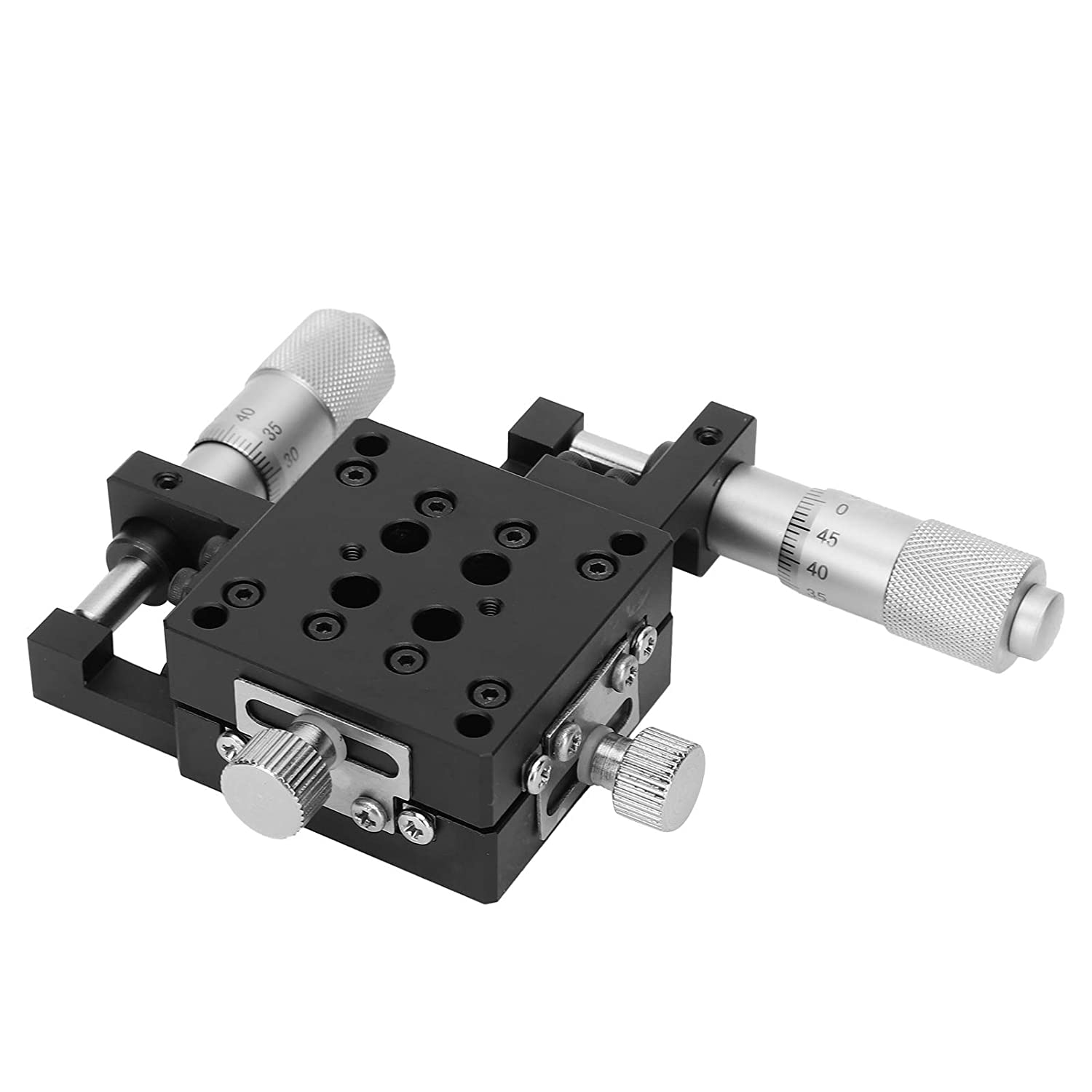 【Christmas Gift】Manual Linear Stage X-Axis Linear Stage Linear Sliding Table XY Axis Manual Platform Cross Roller Guide Type Stage 40x40mm SEMYW40‑AS