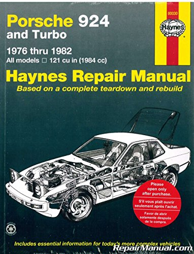 H80030 Haynes Porsche 924 1976-1982 Auto Repair Manual