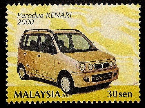 perodua-kenari-2000-car-malaysia-framed-postage-stamp-art-17984