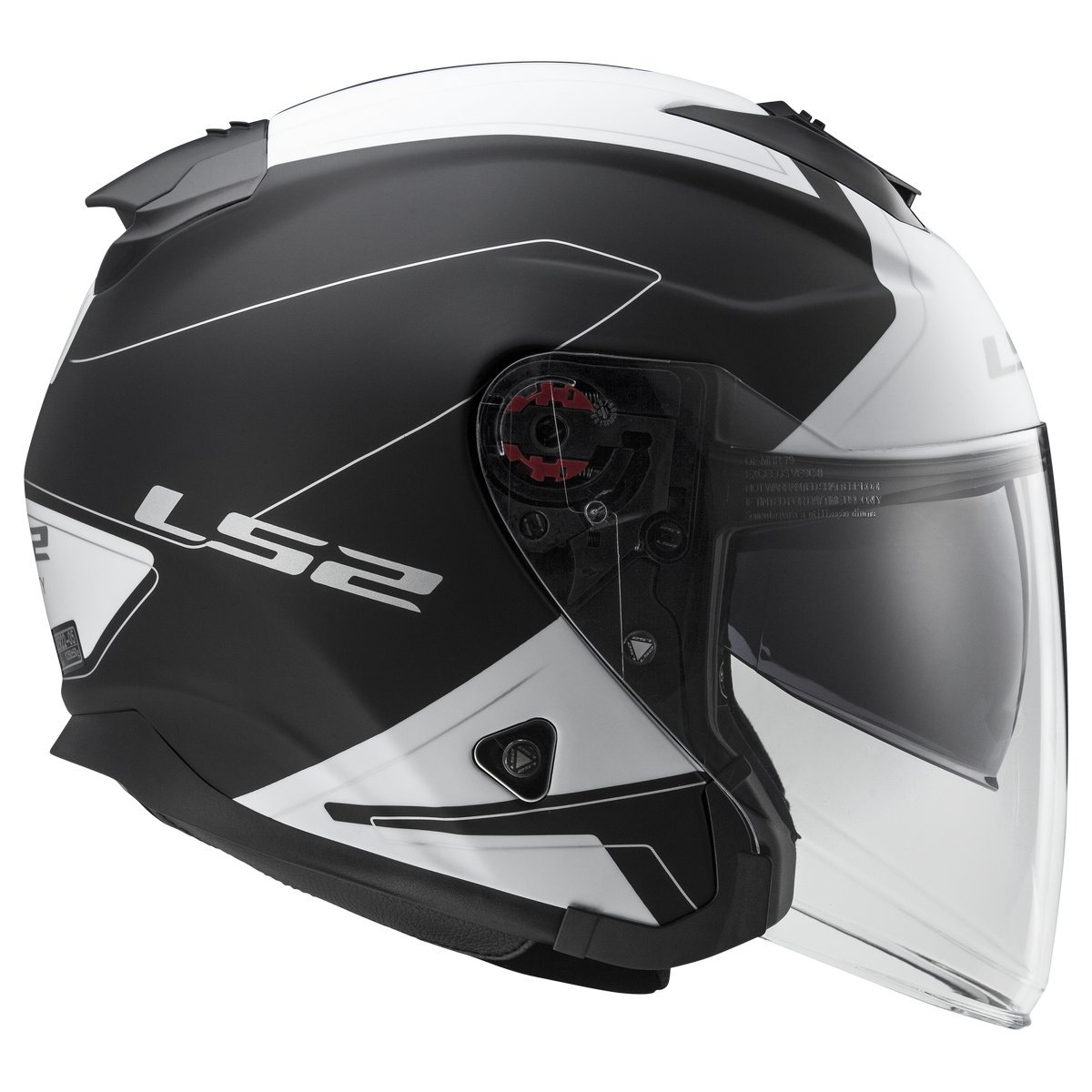 Gloss Black, Small 521-1002 LS2 Helmets Infinity Solid Open Face Motorcycle Helmet with Sunshield