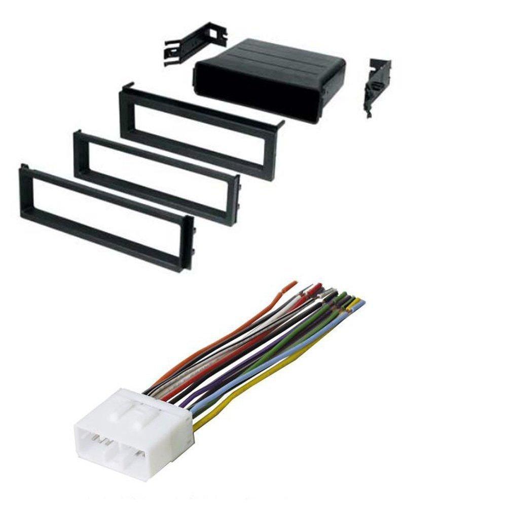 amazon com: subaru 2002-2007 impreza wrx car radio stereo cd player dash  install mounting kit harness: car electronics