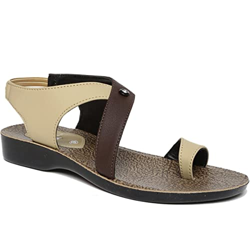 78f42a21a7c6 PARAGON SOLEA Women s Beige Sandals  Buy Online at Low Prices in India -  Amazon.in