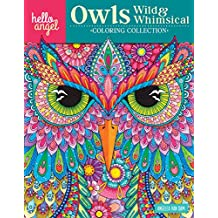 Hello Angel Owls Wild Whimsical Coloring Collection