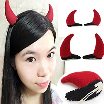 Clip-On Devil Horns Costume Accessory