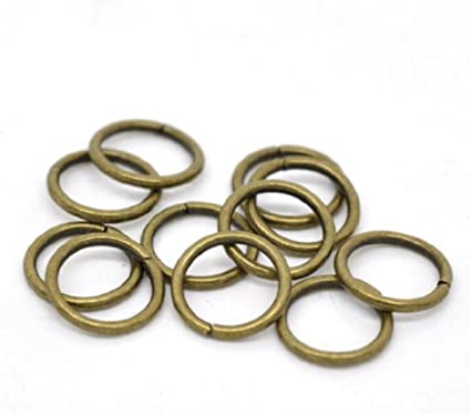 Nickel Free Jump rings Pandahall 200 pcs 5mm Silver Plated Brass Round Jewelry Findings Accessories