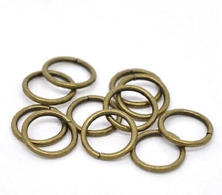 100 pcs  antique copper plated split rings 6mm