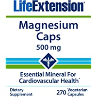 Life Extension Magnesium Caps 500mg, 270 Vegetarian Caps - 4 Mags in 1 Supplement: