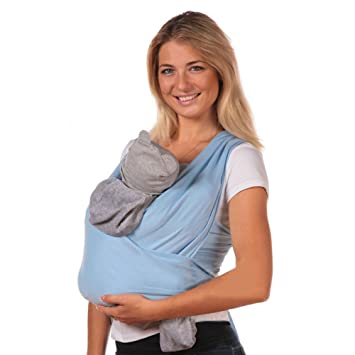 Amazon Com Baby Sling Carrier By Ambaby Soft And Stretchy Baby