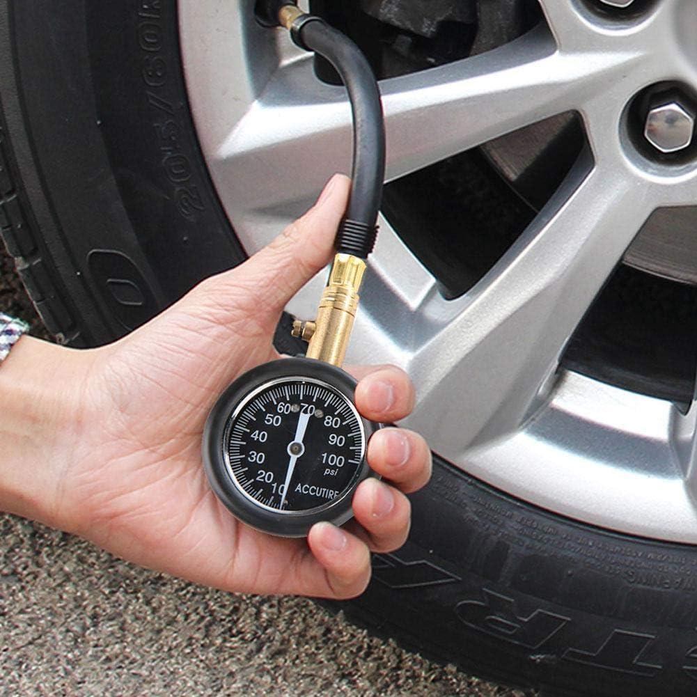 Reminnbor Luftdruckpr/üfer Alloy 100psi Reifenf/ülleranzeige Tragbare Reifendruckanzeige f/ür Auto