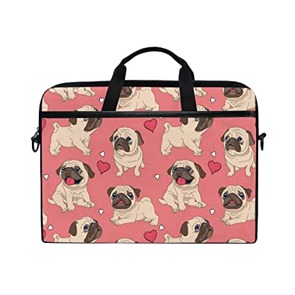 95c00db59759 Amazon.com: HELVOON Cute Pug Puppy Dog Pattern Laptop Shoulder ...